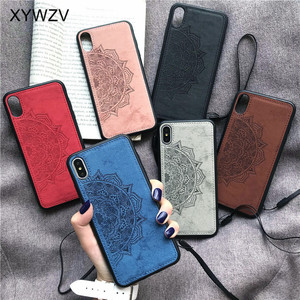 Image 5 - For Huawei Y7 2019 Shockproof Soft TPU Silicone Cloth Texture Hard PC Phone Case For Huawei Y7 2019 Back Cover Huawei Y7 2019
