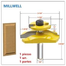 1PCS 1/2インチシャンク送料無料12.7ミリメートルシャンク木工ルータービット、超硬ソリッドエンドミル、木材フライスカッター、食器棚