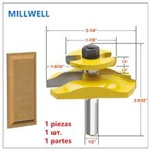 1PCS 1/2 Inç shank Ücretsiz kargo 12.7mm shank ağaç İşleme yönlendirici bit, katı karbür end mill, ahşap freze kesicisi, dolap