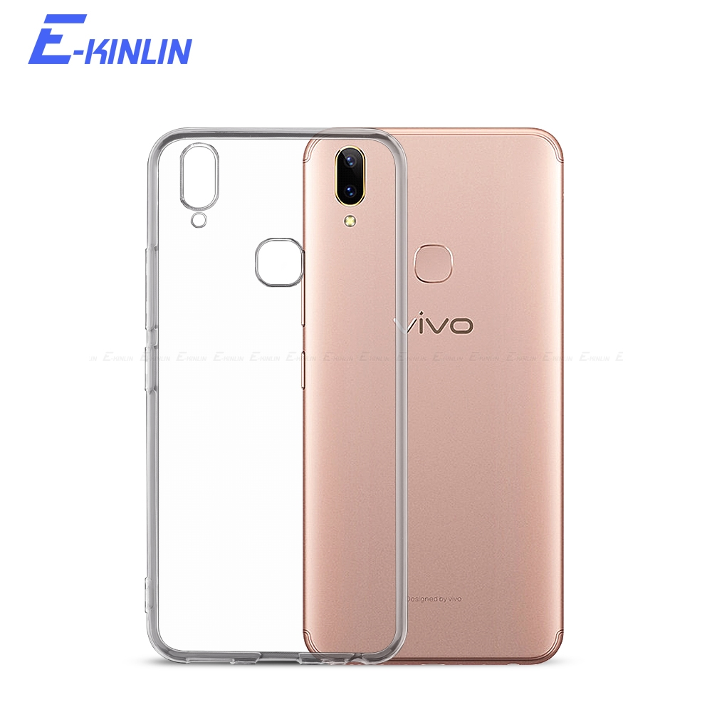 Silicone UltraThin Clear Soft Cover For BBK <font><b>vivo</b></font> Y79 Y75 Y75s Y71 Y95 Y91 Y85 <font><b>Y83</b></font> Y53 Y53i Y55 Y55s Y65 Y67 Y69 TPU Back <font><b>Case</b></font> image