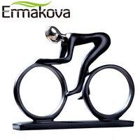 ERMAKOVA Hiện Đại Nhựa Trừu Tượng Bicycler Tay Đua Xe Đạp Tượng Người Lái Xe Đạp Tượng Xe Đạp Racer Rider Figurine Văn Phòng Living Room Decor