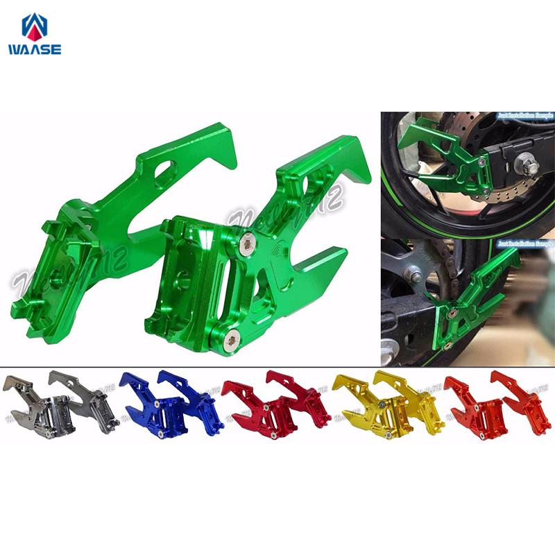 Motorcycle Chain Adjusters Rear Stand Pick Up Hook Set For KAWASAKI Ninja 250 300 2013 2014 2015 2016 Red Blue Gold Green Gray игрушка ecx ruckus gray blue ecx00013t1