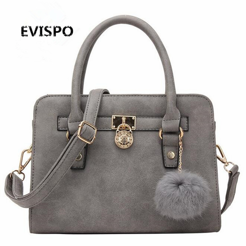 EVISPO 2017 New Arrival Vintage Trapeze Tote Women Leather Handbags Ladies Party Shoulder Bags Fashion Top-Handle Bags