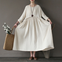 2016 Women S Dresses European Style Casual Fall Spring Winter Thick Cotton Solid Color Plus Size