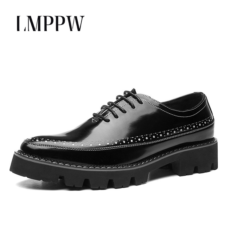 2018 Autumn New Business Martin Shoes England Joker High Shoes Pointed Casual Men's Shoes Fashion Lace-up Men Dress Derby Shoes 2015 new spring and autumn full for grain embossed leather england men s solid fashion business dress wedding derby shoes flats