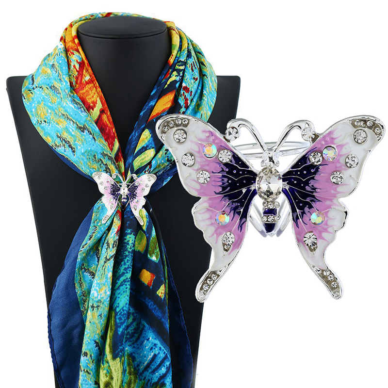 Fashion Enamel Animal Butterfly Brooches Crystal Insect Brooch Pins For Women Jewelry Wedding Party Bijoux Gift Bijoux CX046