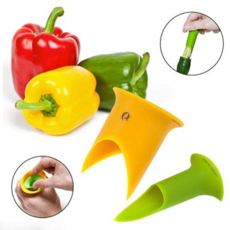 2 unids Nuevo Uso Doméstico Utilidad Chiles Removedor De Semillas Tomates Núcleo