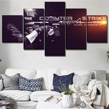 Modular Poster Game Counter-Strike Global Offensive 5 Pieces Wall Art Home Decor Canvas Painting For Modern Living Room Prints