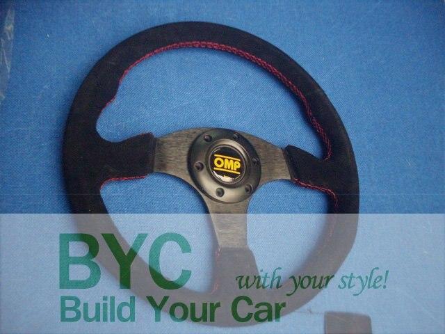 Logo OMP Flat Leather Steering Wheel, Racing Wheel - Car power Online Store 722192 store