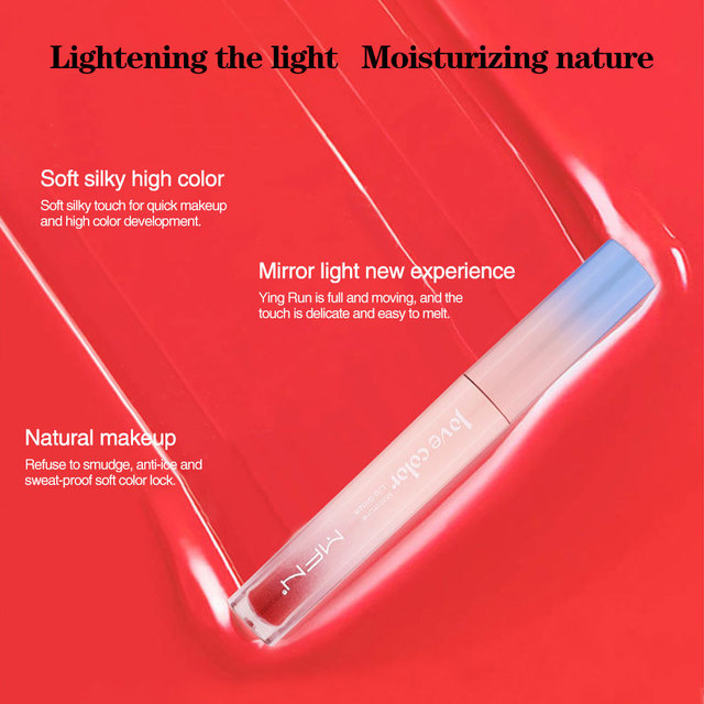 Lip Tint Makeup Matte Liquid Lipstick Mirror Lip Gloss Glitter Waterproof Lip Stick Long Lasting Sexy Red Lip Tint Korean Cosmet 4