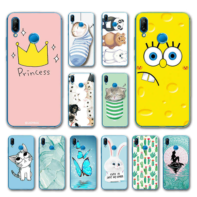 Phone Bags For Huawei P20 Lite Case Cover Various Animal Cat Dark Silicone Case For Huawei P20 Lite Covers Funda P20Lite 5.84""