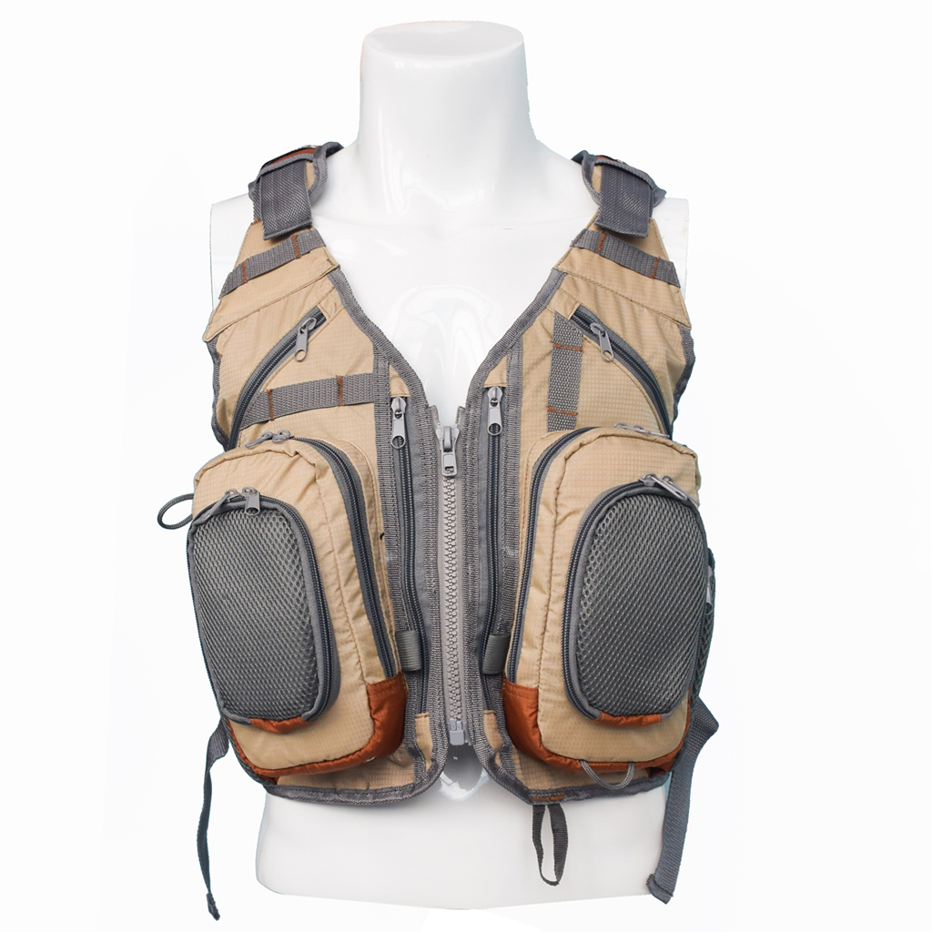 Fly Fishing Backpack Vest Combo Fishing Tackle Mesh Vest Multifunctional Bag Free Size for Outdoor Sports