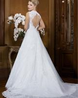 b44ed5bbda Sexy Backless 2 Two Piece Detachable Skirt Wedding Dresses Vestido De Noiva  Casamento Com Renda Robe