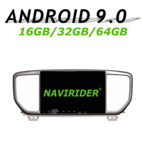 Navirider GPS navigation For Kia Sportage 2018 2019 9 full touch screen Car android 9.0 64gb rom radio bluetooth player stereo