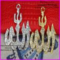 20pcs Newest Allah pendant charm ! Pave Crystal Rhinestones Allah Pendants Beads,Making Bracelet / Necklaces Findings