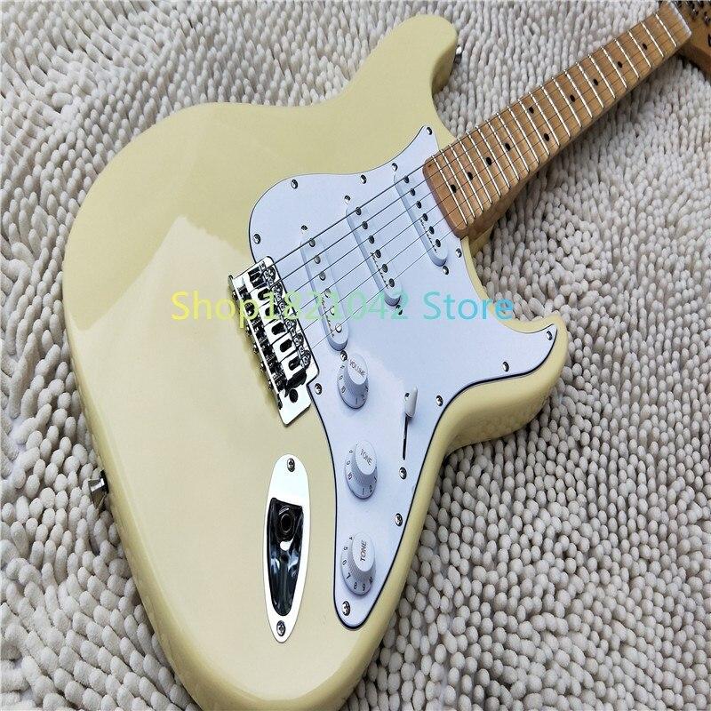 Vente chaude bonne qualité Firehawk Yngwie Malmsteen guitare électrique festonnée touche bighead basswood corps taille standard