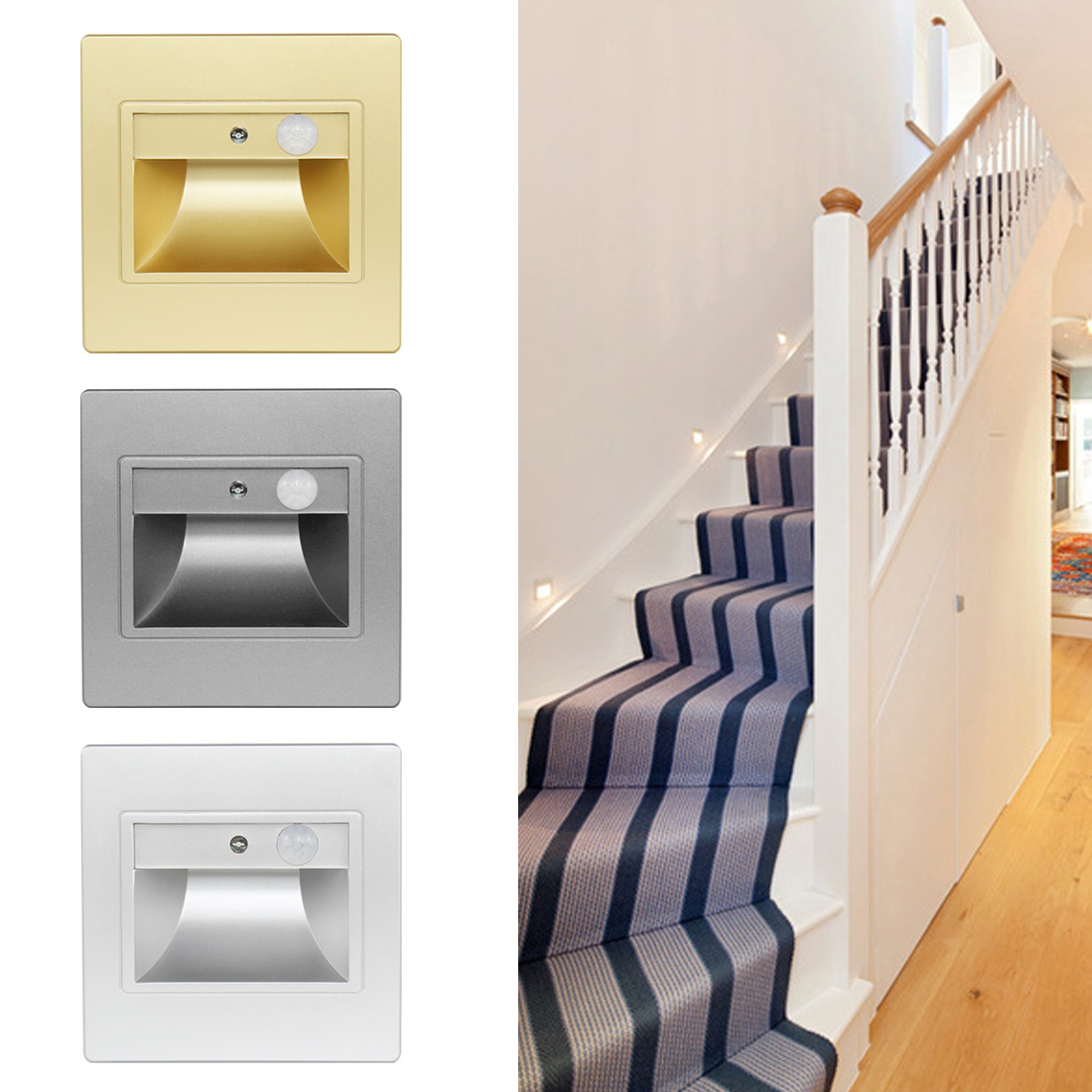 Light Sensor Infrared Human Body Induction Recessed Deck Light Floor Lights Led Underground Lamps Steady Ip65 Led Step Stair Light Pir Motion Detector Led Lamps