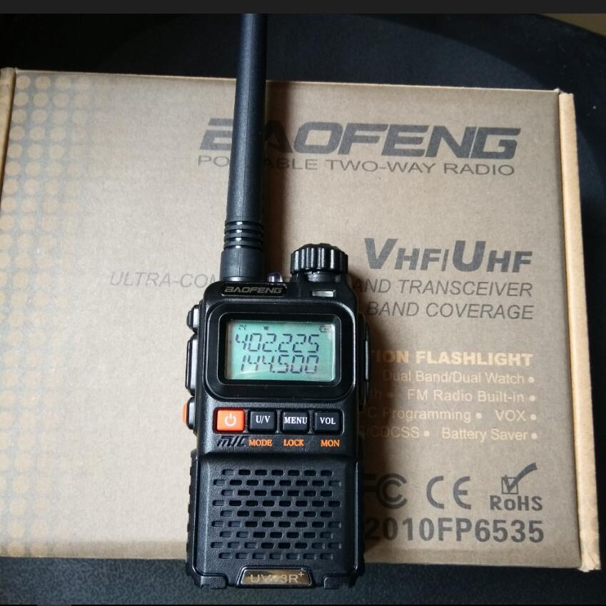 Image 2 - 2pcs Baofeng UV 3R plus walkie talkie Dual Band Two Way Radio HF Transceiver uv 3r Handy Ham Radio For Hunting Pofung UV3R+-in Walkie Talkie from Cellphones & Telecommunications