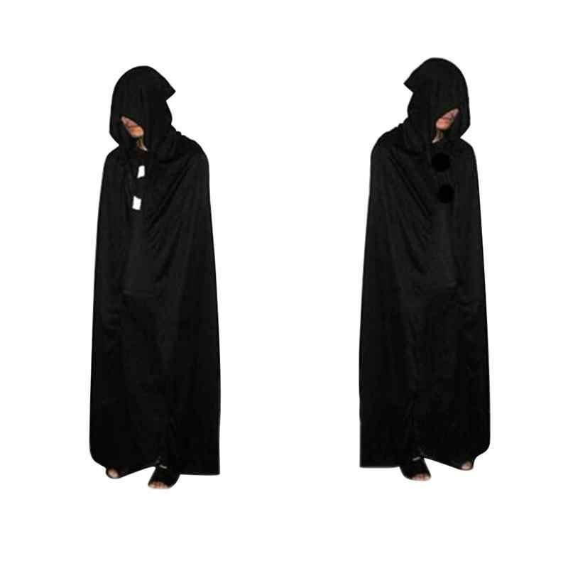 ฮัลโลวีเสื้อคลุมG Rim R Eaperตายปีศาจคลุมด้วยผ้าคลุมเสื้อคลุมสีดำตายเครื่องแต่งกายคอสเพลย์170เซนติเมตร