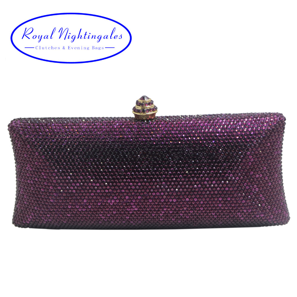 Elegante Purple Crystal Box Clutch Bag and Purses Rhinestone Evening Bags deep purple deep purple stormbringer 35th anniversary edition cd dvd