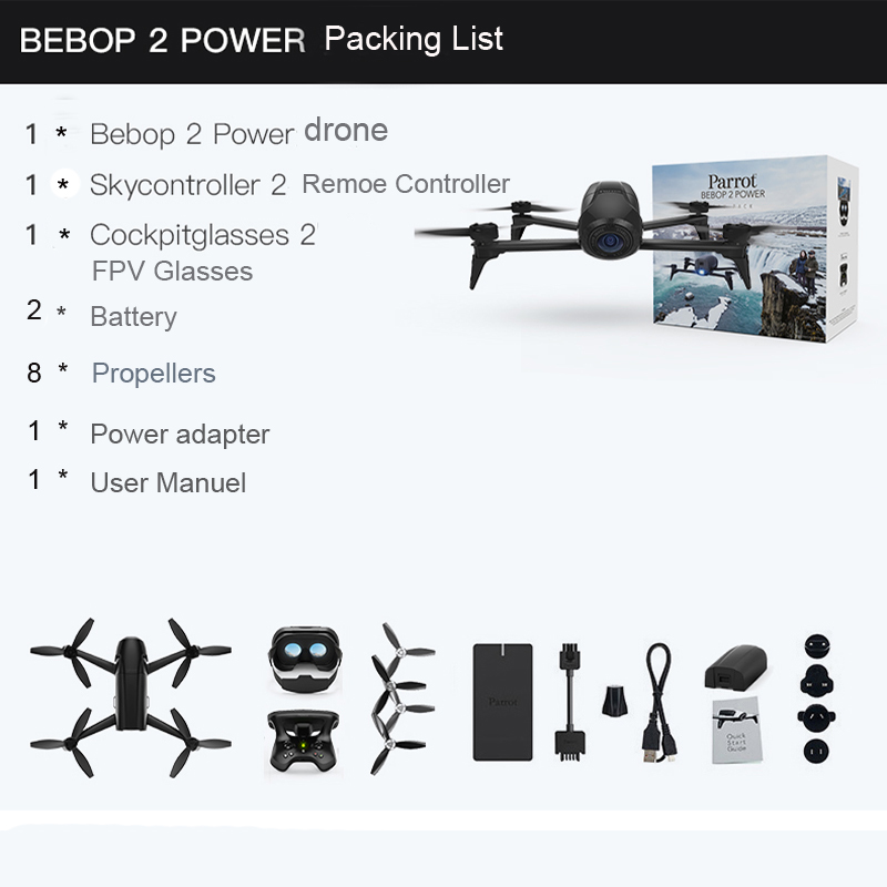 Drone 4K Parrot Bebop 2 Power FPV Drones with Camera HD