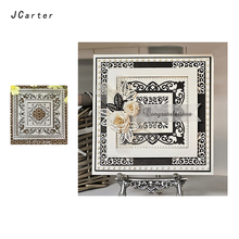 JCarter Large Lace Square Dies Frame Metal Cutting for Scrapbooking DIY Album Embossing Folder Cards Photo Template Stencil