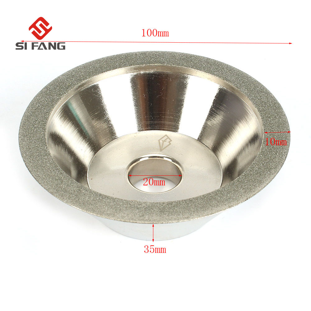 4''inch At A 45 Degree Angle  Cup Diamond Grinding Wheel Grit  200# Tool Cutter Grinder