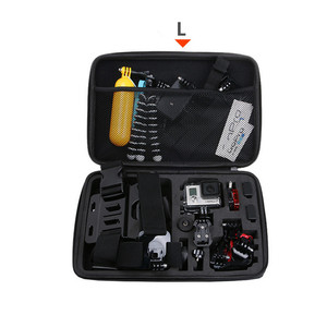 Image 4 - Portable Storage Bag Case Protective EVA Box For GoPro Hero 6 5 4 3+ Xiaomi Yi Sjcam Action Camera Accessories Camouflage Bag