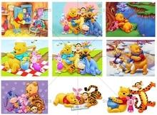 5D DIY diamond painting Winnie the pooh full drill cross stitch For kids Room embroidery cartoon mosaic Decor
