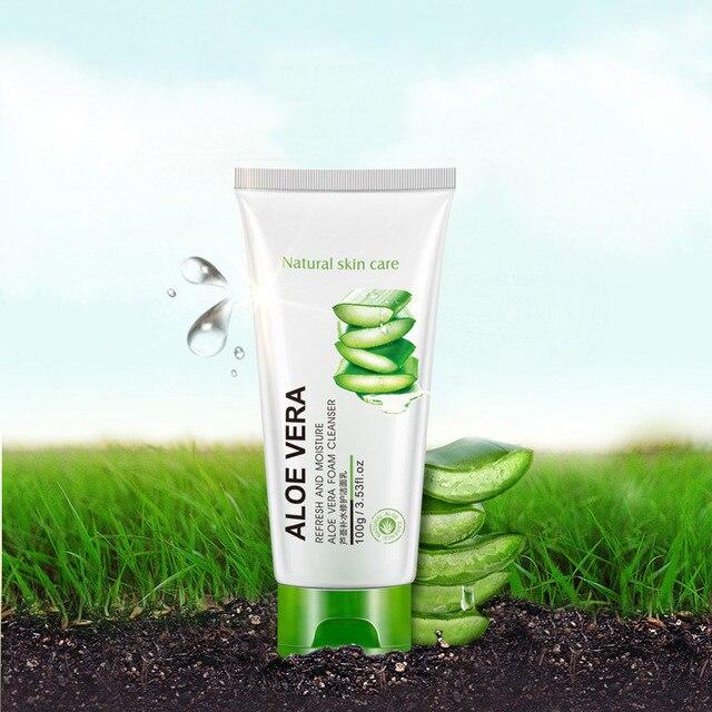 12 pièces BIOAQUA naturel Aloe Vera nettoyant pour le visage hydratant blanchissant rétrécissement Pores traitement dacné contrôle de lhuile nettoyant