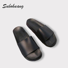 Hot Sale Summer Beach Slippers Women Fashion Thick Non-slip Soft Shoes Outside Black White Flip Flops Brand Slippers Wholesale
