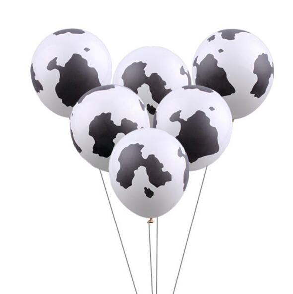 10Pcs 12inch Cow Print Balloons Latex Farm Animal Happy Birthday Party Supplies Holiday wedding Thicken Ballons Decoration