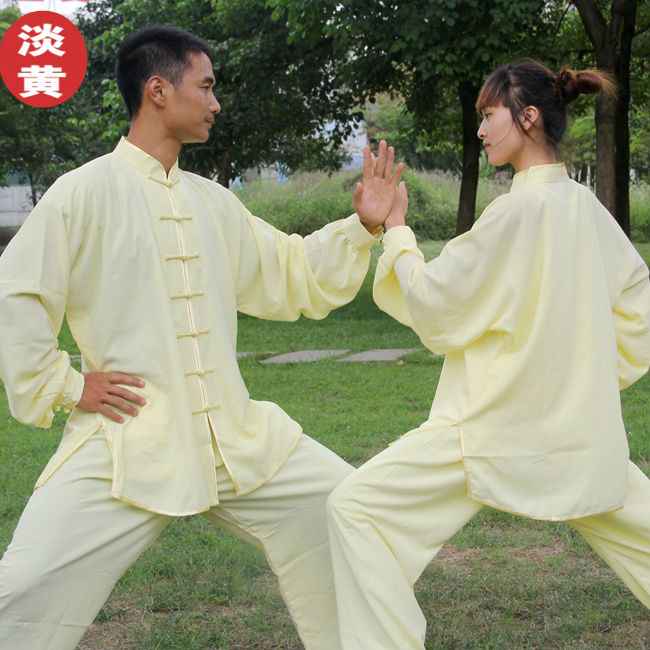 Chinese Tai Chi clothing martial kung fu arts taijiquan performance uniform morning exercise clothes  men women child suit