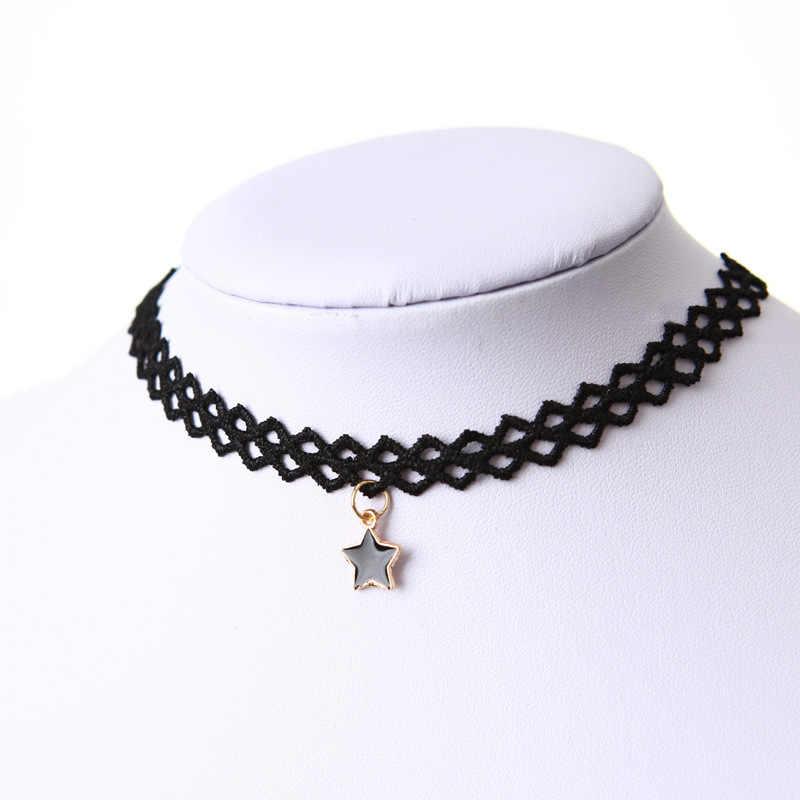 Chaud 2019 mode à la mode sexy creux fleur pendentif goutte d'eau chokers collier collier chaud femmes mode bijoux partie en gros
