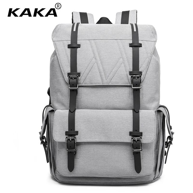 KAKA New Korean Style Men Fashion Backpacks Hasp & String Opening Unisex Women School Backpack for 15.6 Laptop Waterproof Bag 2017 new korean style tuguan brand unisex men 15 6 laptop school backpacks women fashion school bags for teenager boys and girls