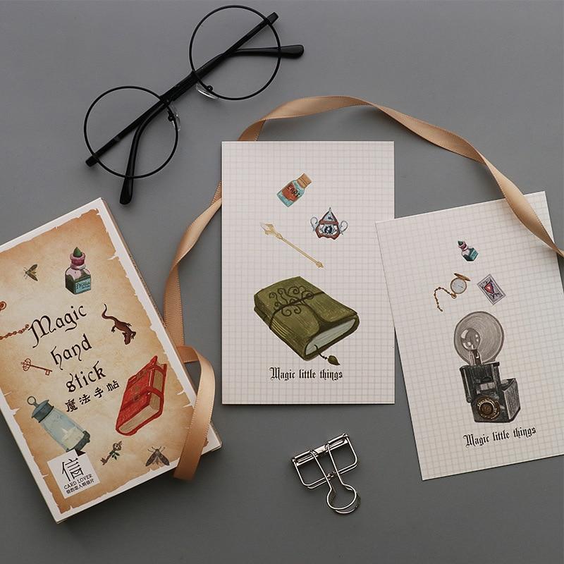 30 Pcs/Set Creative Magic Hand Stick Series Postcard /Greeting Card/Message Card/Birthday Letter Envelope Gift Card