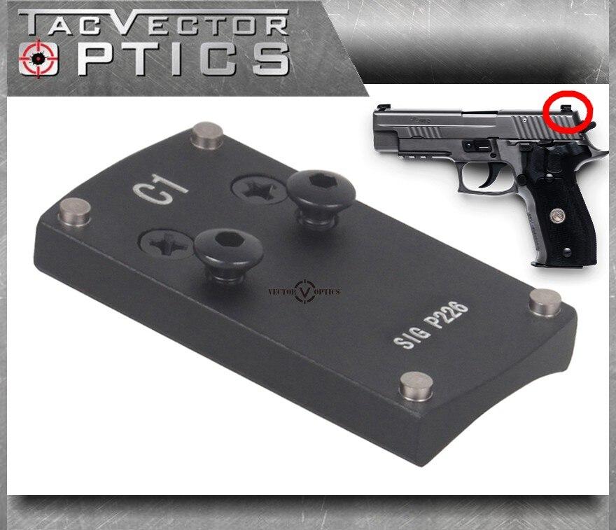 Vector Optics SIG P226 Mini Red Dot Sight Pistol Handgun Rear Sight Dovetail Plate Base Replace