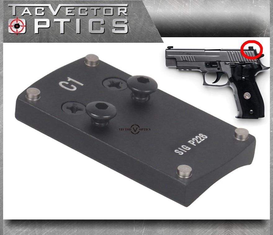 Vector Optics SIG P226 Mini Red Dot Sight Pistol Handgun Rear Sight Dovetail Plate Base Replace Mount картридж cactus cs clt m409s magenta для samsung clp 310 315 clx 3170 3175 3175fn