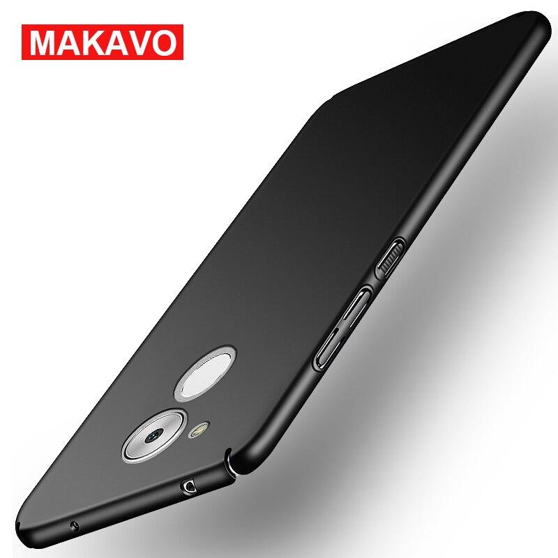 6c MAKAVO Para Huawei Honor Caso 360 Protección Completa Fundas de Piel Mate Car