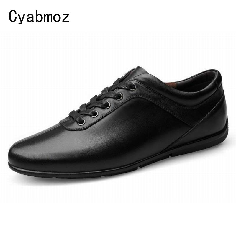 Men Genuine Leather Casual Shoes Driving Moccasins Lace-up men's shoe British Style Gentleman Vintage Single Shoe Flats Hot Sale top classic hot sale men shoes casual leather flats shoes men summer cool