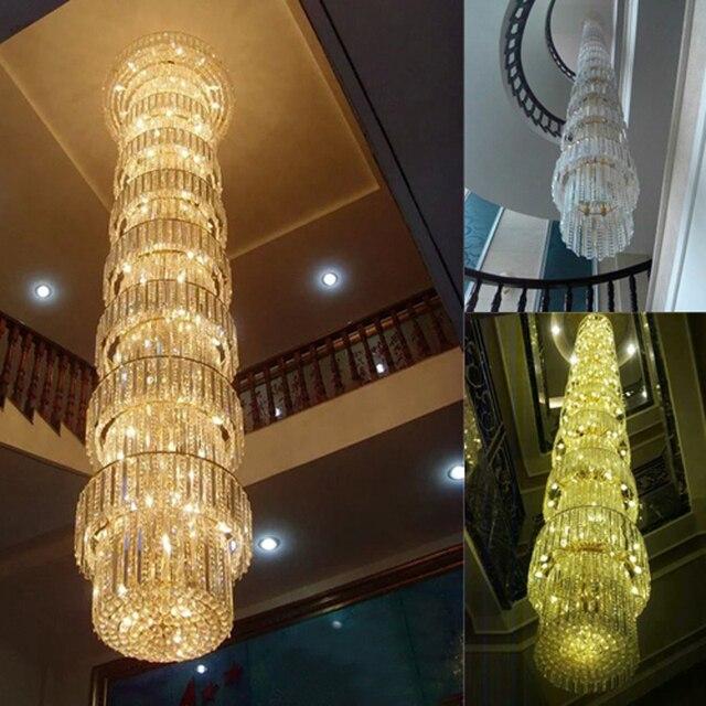 Geführt Spirale Kristall Leuchte Lange Kristall Kronleuchter Licht ...