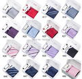 2016 Novo Pescoço Set Tie hanky abotoaduras de presente dos homens dos homens conjunto caixa de presente do laço Lenços: Tie + Botão de Punho + Tie clip + Lenço + Gift caixa