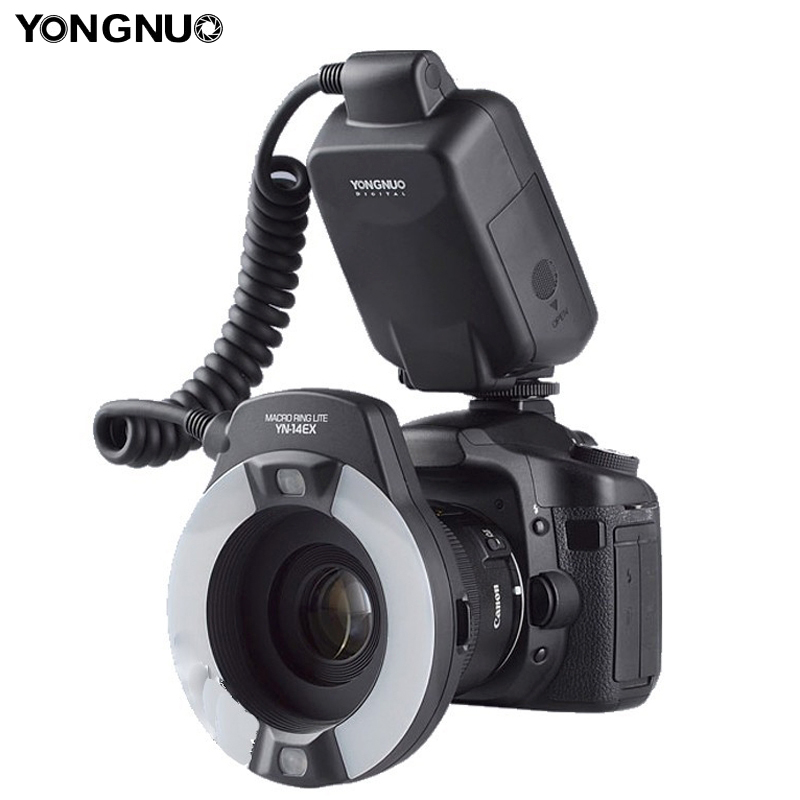 Yongnuo YN-14EX TTL Macro Lens Ring Lite Flash Light for Canon 5Ds 5Dsr 760D 5D Mark III 6D 7D 60D 70D 700D 650D 600D Speedlite