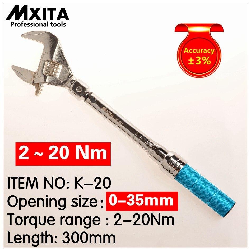MXITA Open Torque Wrench 2-24Nm Interchangeable Adjustable Torque Wrench Hand Spanner mxita 1 2 5 60n adjustable torque wrench hand spanner car wrench tool hand tool set