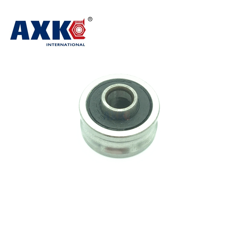 Free shipping high quality TU16 T16  U16 T16.5 ABEC5 6mm pulley bearings 5x16.5x9x11mm U groove roller wheel ball bearing T-U-16 tv0630 tv0630vv v groove pulley ball bearings 6 30 8 mm track guide roller bearing