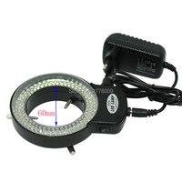 Регулируемый 6500 К 144 кольцо света лампа подсветки для промышленности стерео микроскоп объектив Камера Лупа 110 В-240 В адаптер