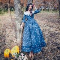 2016 Autumn Women Dress Vintage Retro French Style Elegant Flrare Sleeve Midi Tunic Vestidos