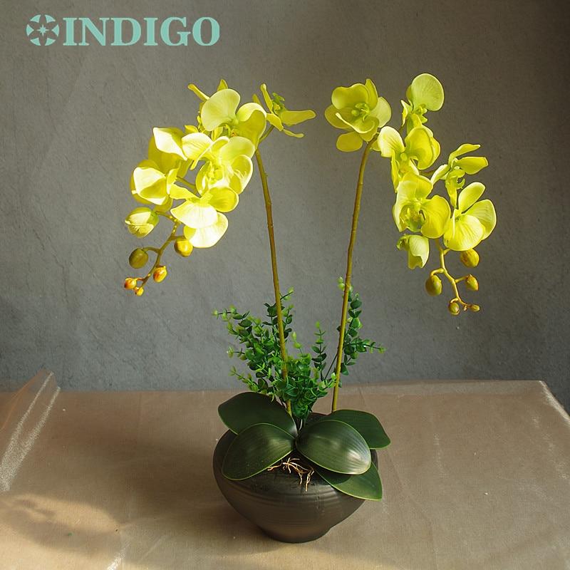 INDIGO- White Orchid Flower Arrangment (2pcs Orchid + 2 leaf) Real - Para fiestas y celebraciones - foto 4