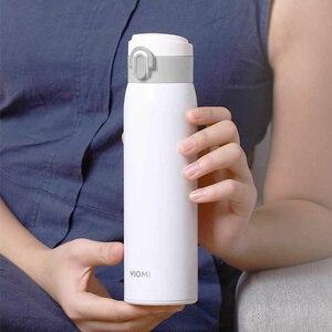 Image 3 - Viomi portátil vácuo garrafa térmica 300ml/460ml material de liga leve 24 horas garrafa térmica única mão em/fechar
