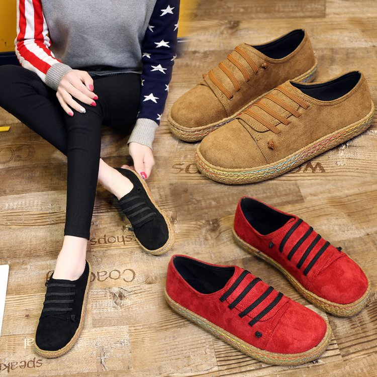 Women Flat Shoes Genuine Suede Leather Barefoot Casual Shoes Woman Flats Bale Sneakers Female Footwear Shoes Hjm8